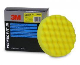3M 50488 Perfect-It Hullámos finom, fényesítő tépőzáras polírszivacs 25x150mm